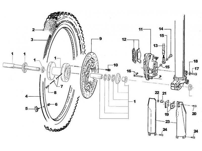 tm racing framhjul frambroms gaffelskydd