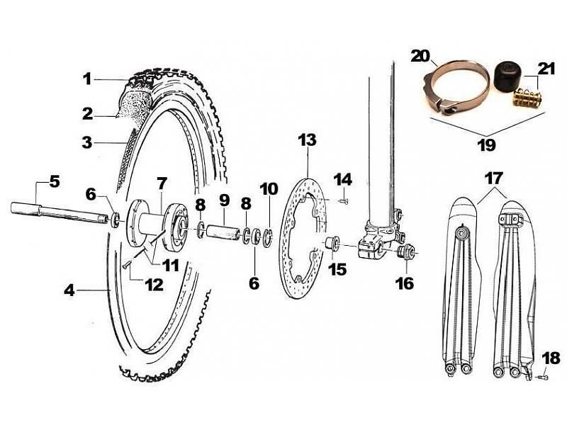 tm racing framhjul gaffelskydd