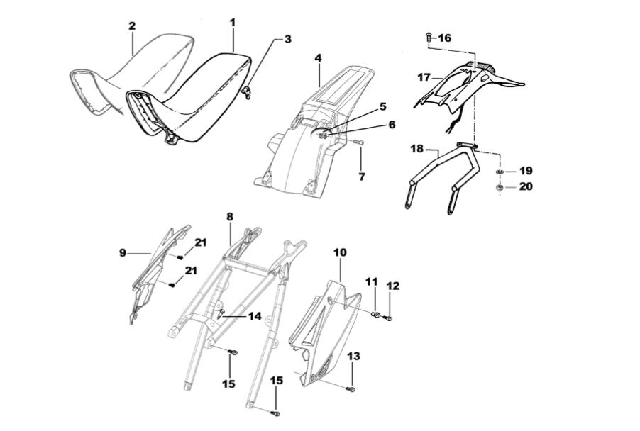 sub frame seat plastic